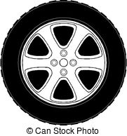 ... Car Tire isolated on white background