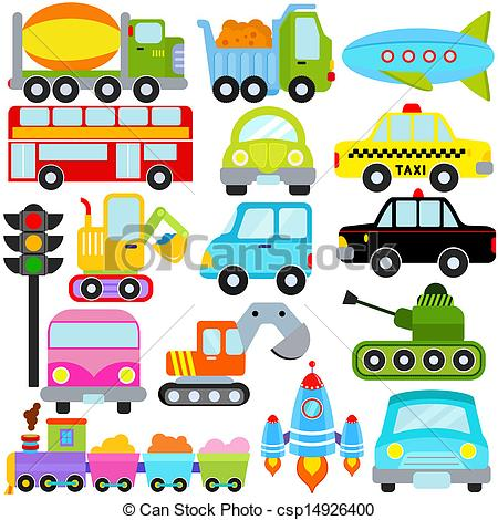Car / Vehicles / Transportation - A set of cute Vector Icons.