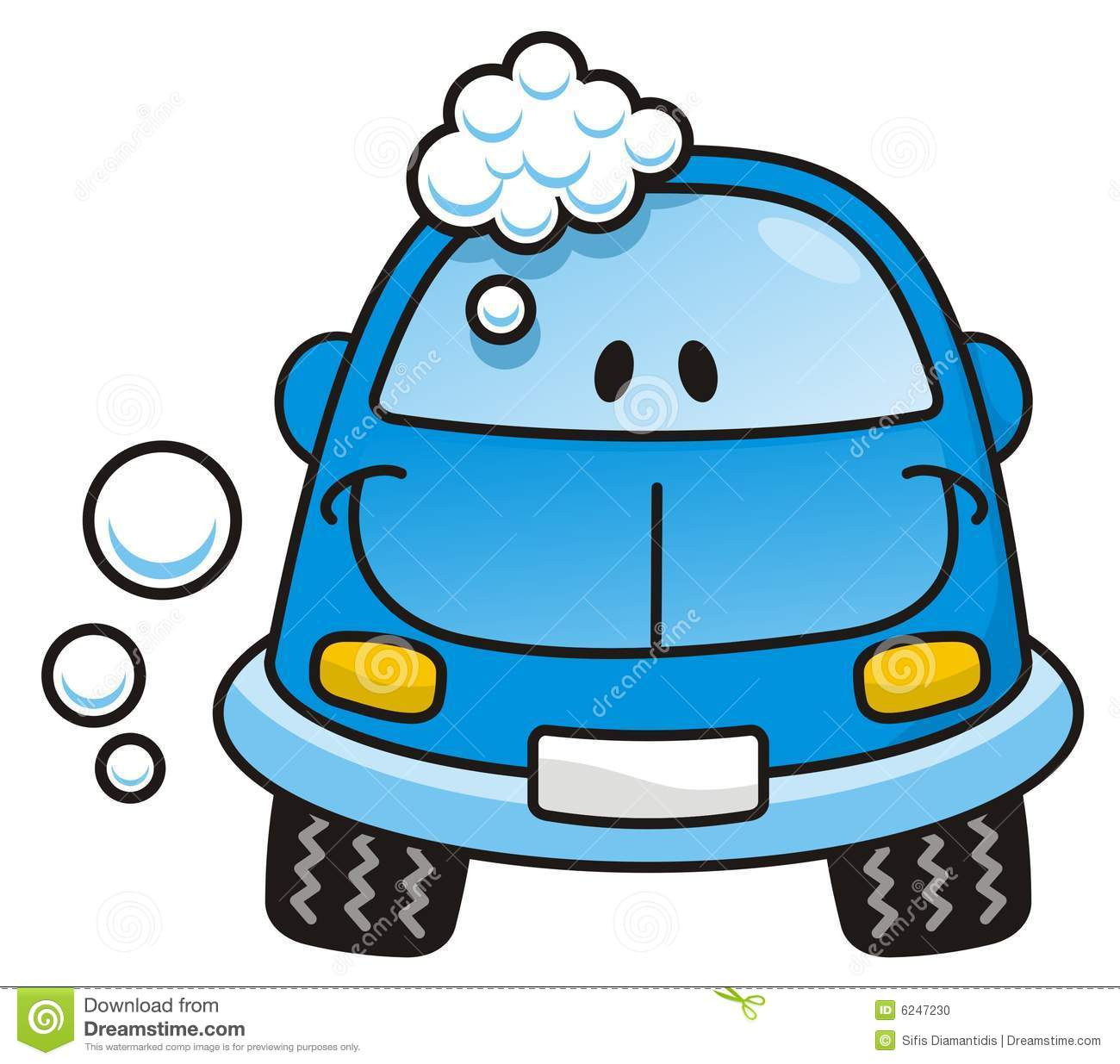 Car wash blue Stock Photo