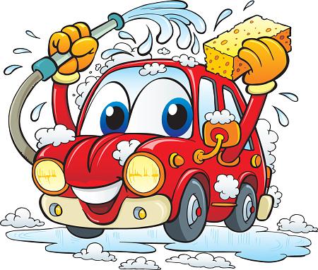 Car wash vector art .