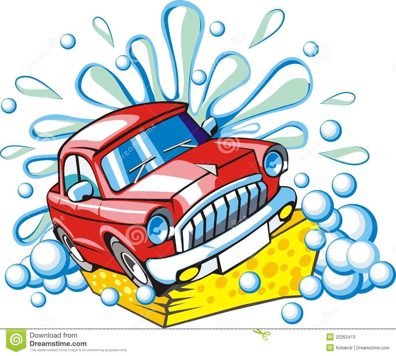 Car washing sign Stock Photos