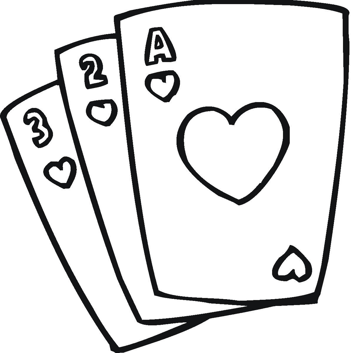 Images For Kids Playing Cards Clipart