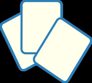 Card Deck Blue Clip Art
