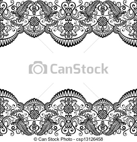 card with lace - Template .