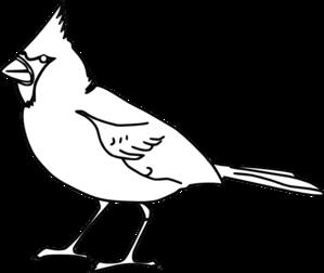 Cardinal Outline clip art .
