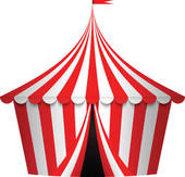 Carnivals tent frame; Vector illustration of circus tent