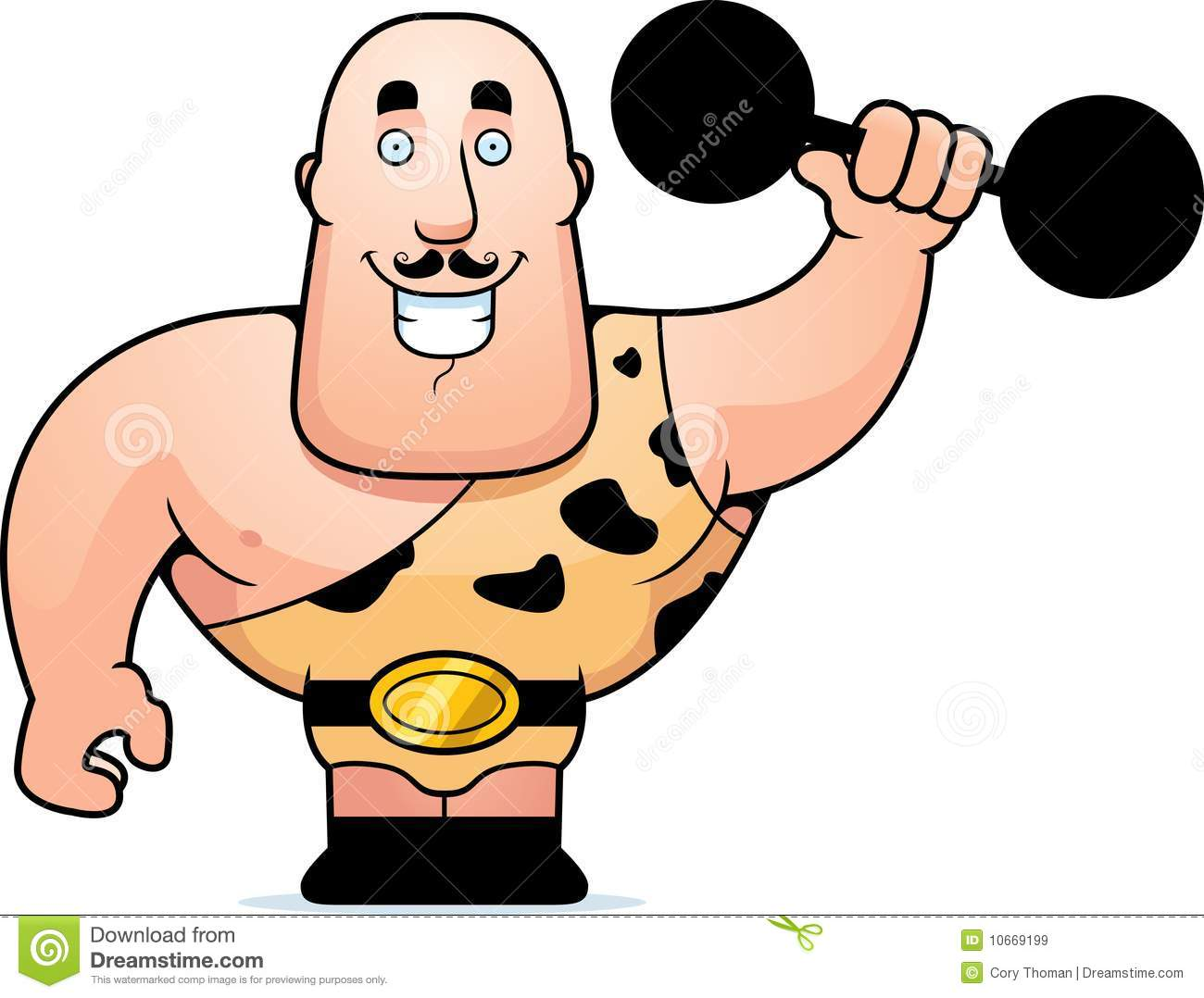 Carnival Strong Man Clipart #1