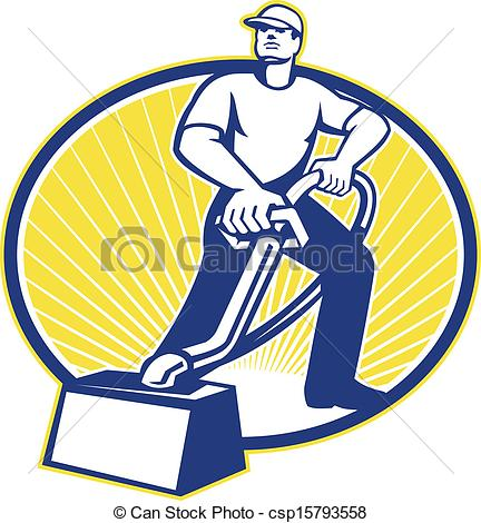 Carpet Cleaning Clipart #1