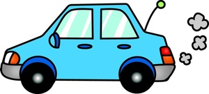 Cars Clipart Image Light Blue Compact Car Putting Along In This