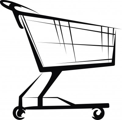 Grocery Cart Clipart #1