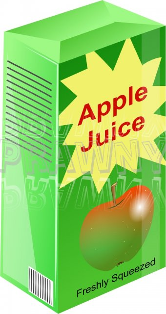 Carton of Freshly Squeezed Apple Juice Clipart
