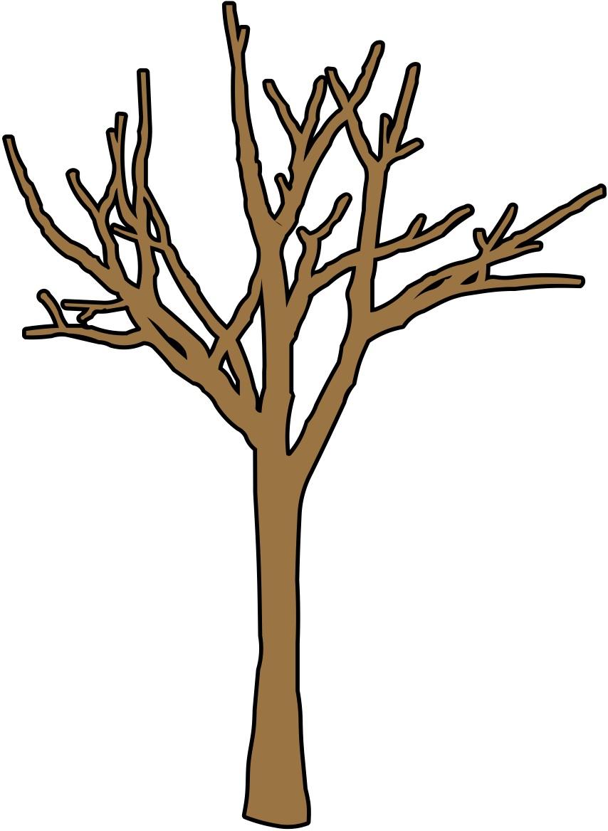 Cartoon Bare Tree Clipart