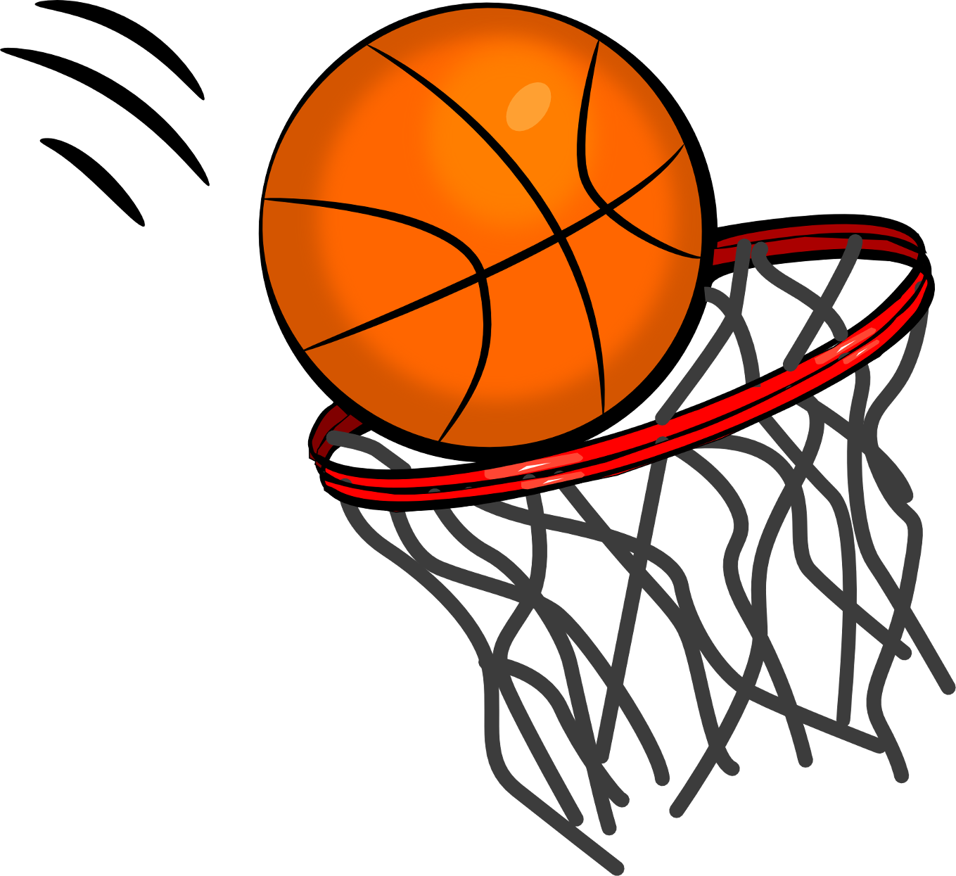 Cartoon Basketball Clipart