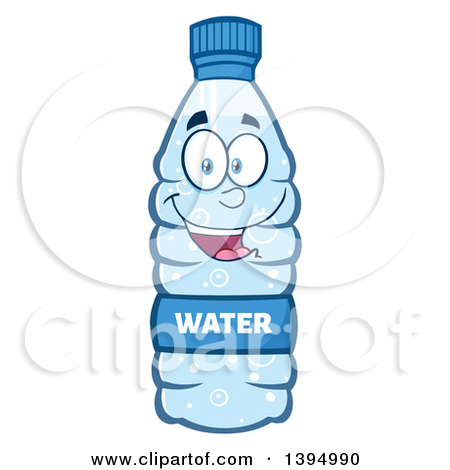 Cartoon Bottled Water Mascot by Hit Toon