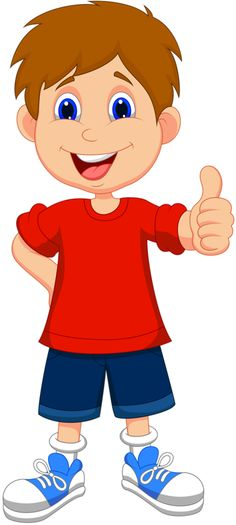 Cartoon boy giving you thumbs up - buy this stock vector on Shutterstock u0026amp; find other images.