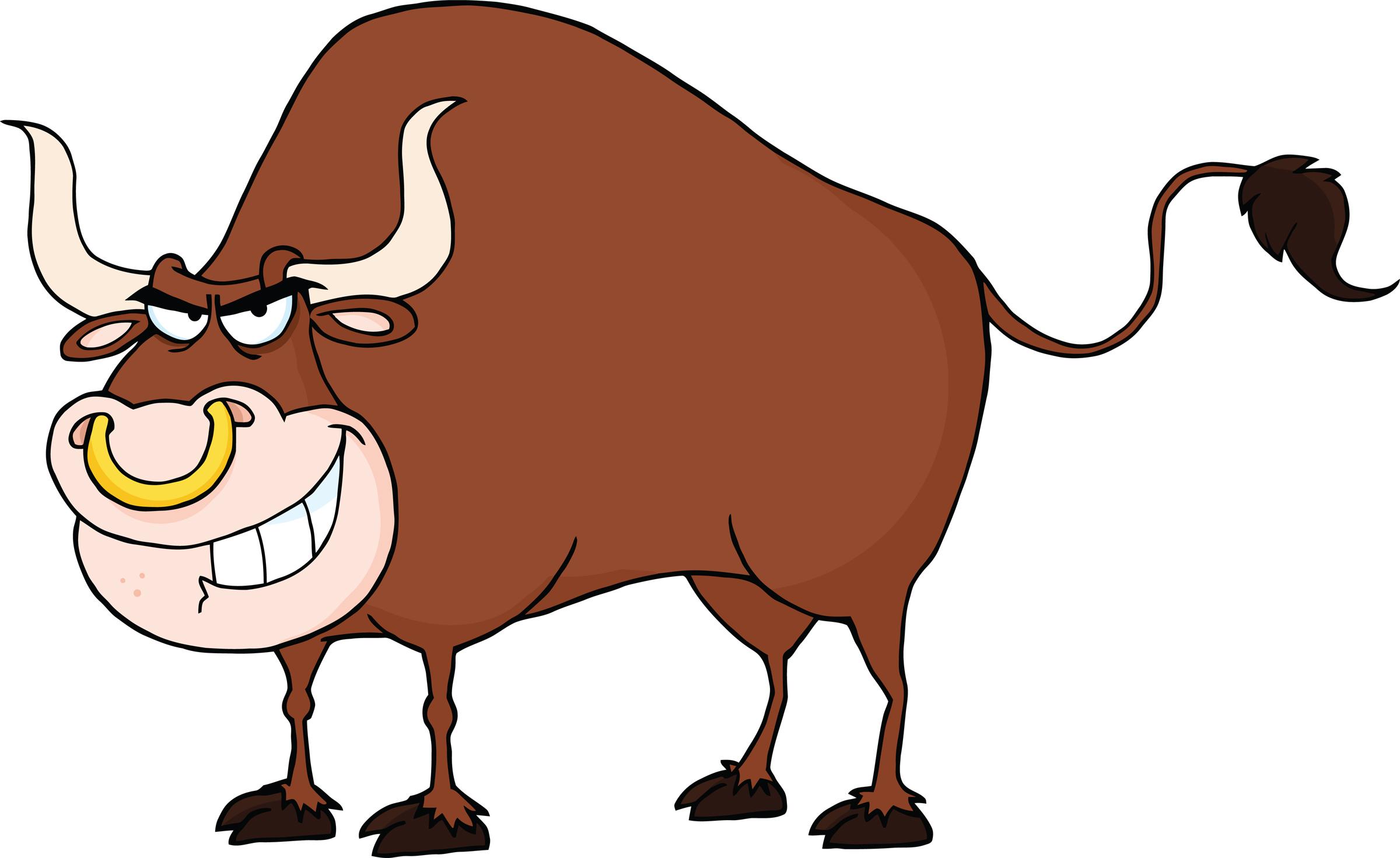 Cartoon Bull Clipart .