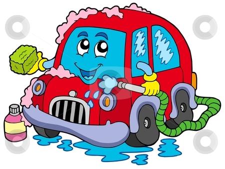 Cartoon Car Wash Clipart