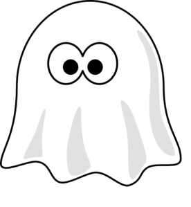 Cartoon cute ghost clipart illustration