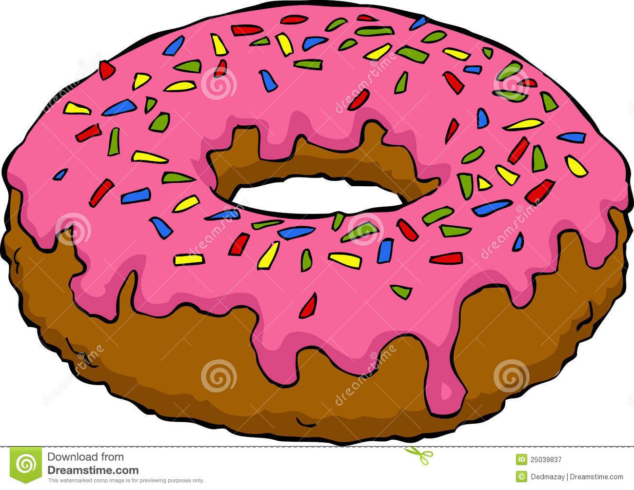 Cartoon Donut Royalty Free Stock Photography Image 25039837