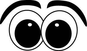Cartoon Eyes Clip Art Image Set Of Cartoon Eyes With Eyebrows This