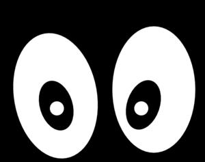 Cartoon Eyes Straight On Black Clip Art At Clker Com Vector Clip