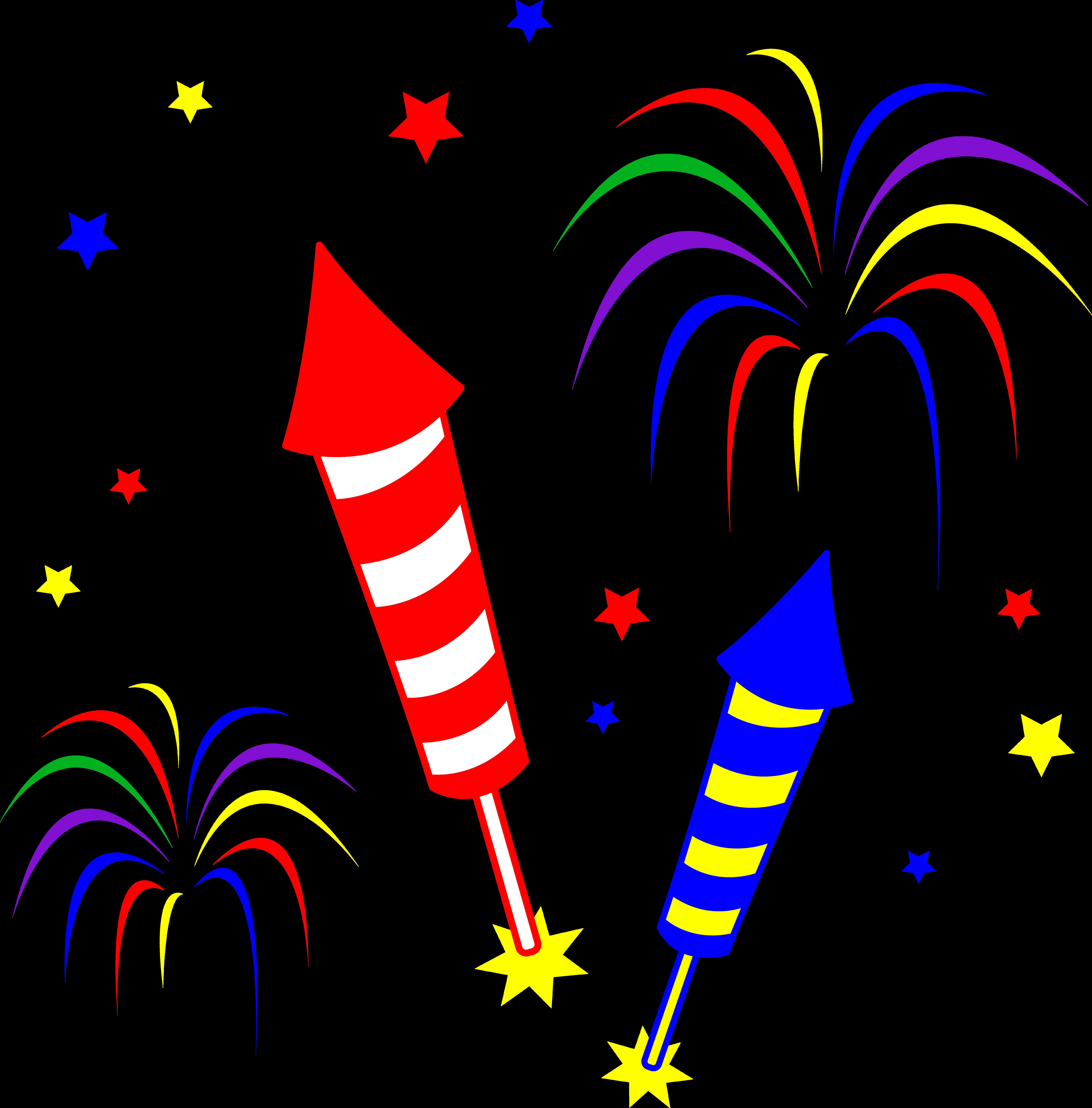 Cartoon Fireworks Clip Art Free Courseimage