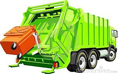 Cartoon Garbage Truck Stock .