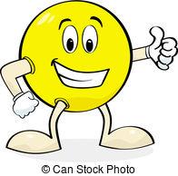 ... Cartoon giving thumbs up - Cartoon illustration of a happy.