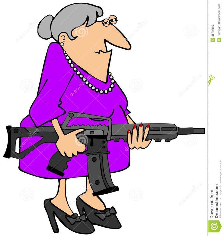 Cartoon grandma clipart - .