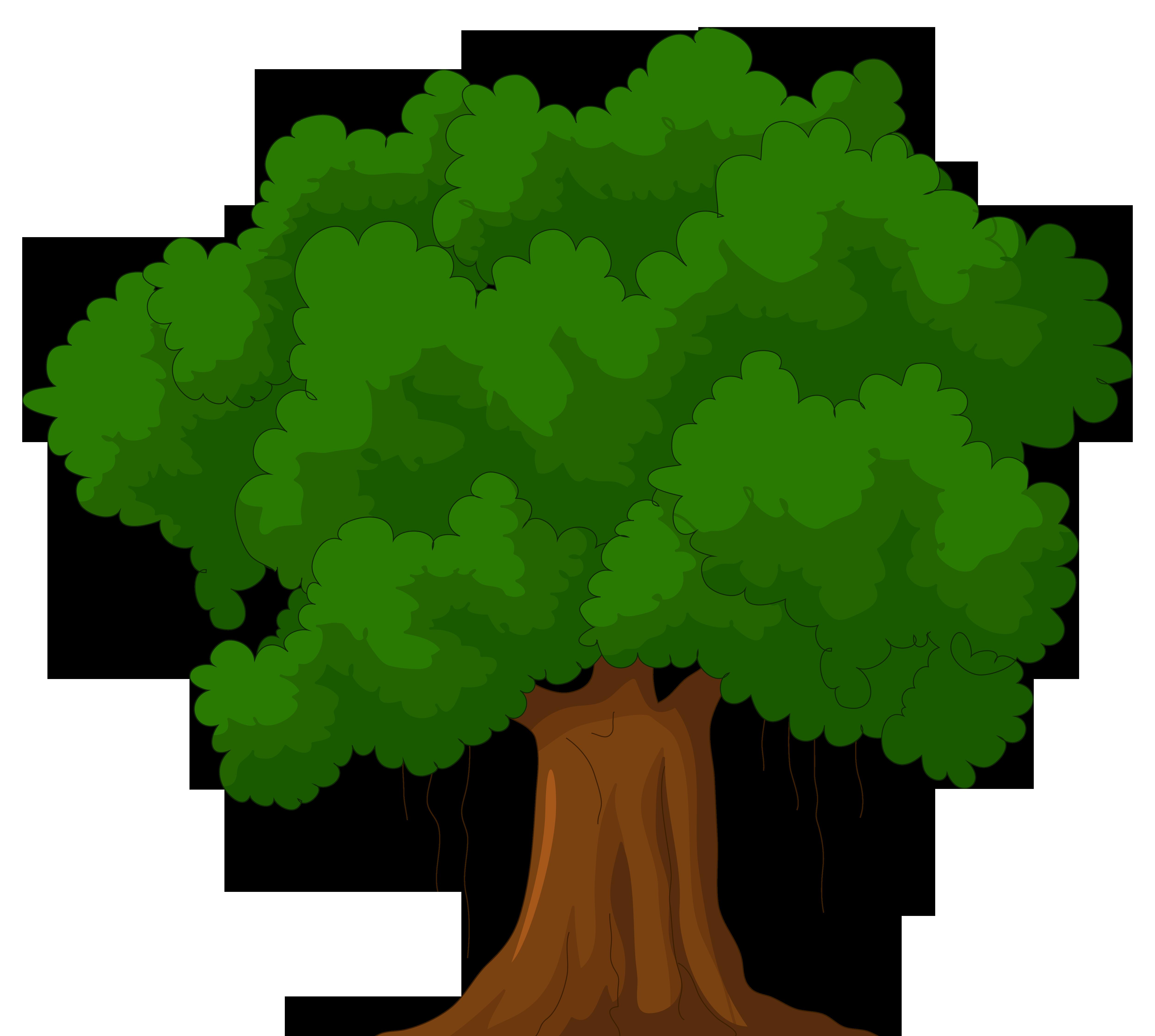 Cartoon green tree clipart web clipart