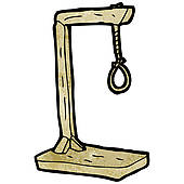 cartoon hanging noose ...