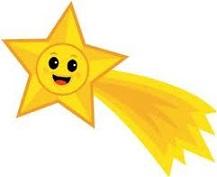 cartoon happy shooting star