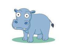 Cartoon Hippopotamus Wild Animal Clipart Size: 46 Kb