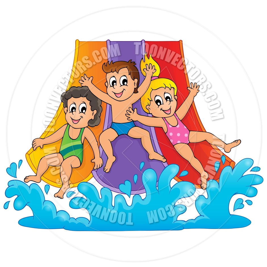 Cartoon Image With Water Park Theme By Clairev Toon Vectors Eps