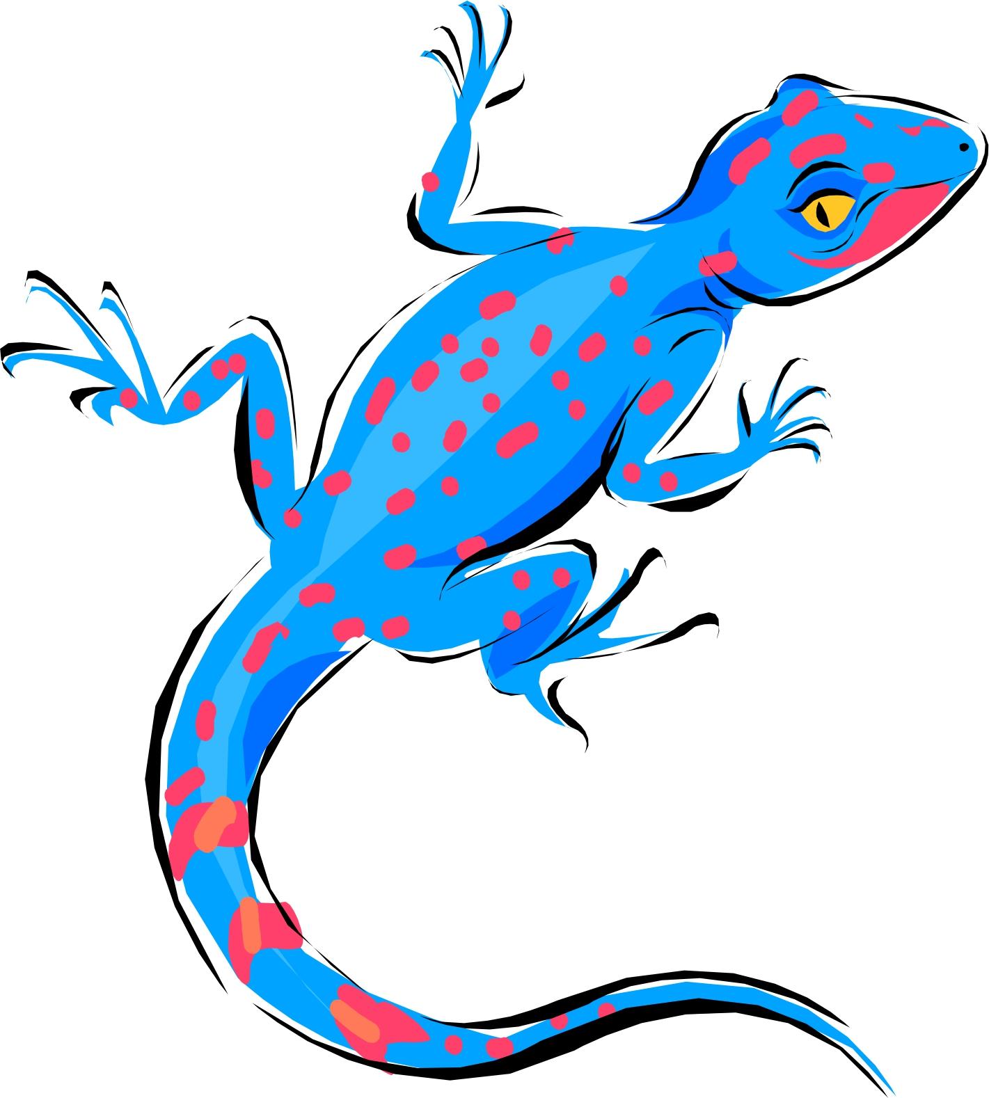 Cartoon Lizard - Clipart .