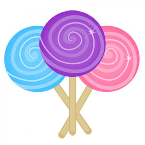 Cartoon lollipop clipart image