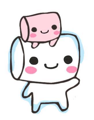 Cartoon Marshmallow Clipart