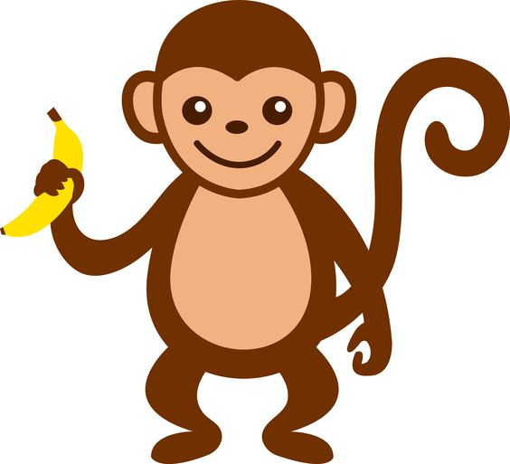 cartoon monkey clip art | Cute Monkey With Banana - Free Clip Art
