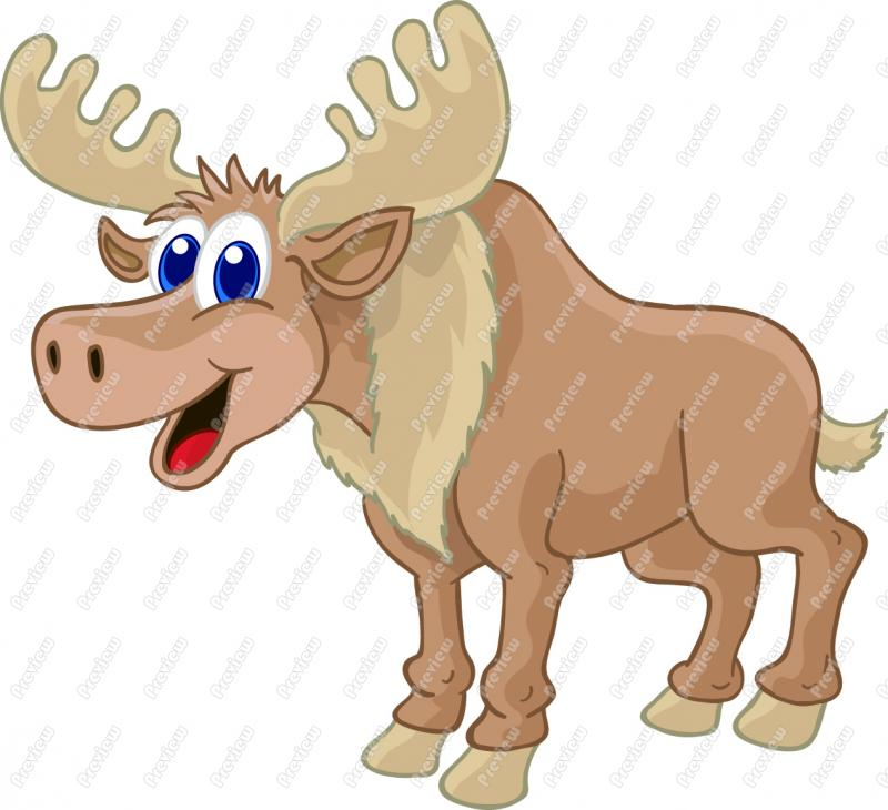 Cartoon Moose Clip Art 252 Formats Included With This Cartoon