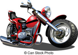 ... Cartoon Motorcycle - Vector Cartoon Motorcycle. Available.