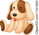 Cartoon Of A Cute Stuffed Dog Royalty Free Vector Clipart