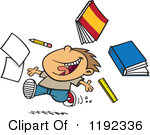 Cartoon Of A Happy Boy Throwing Supplies On The Last Day Of School Royalty Free Vector u0026middot; Preview Clipart