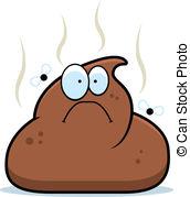 ... Cartoon Poop - A cartoon pile of brown poop with flies.