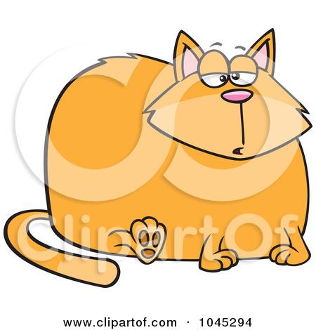 Cartoon Really Fat Cat by Ron Leishman