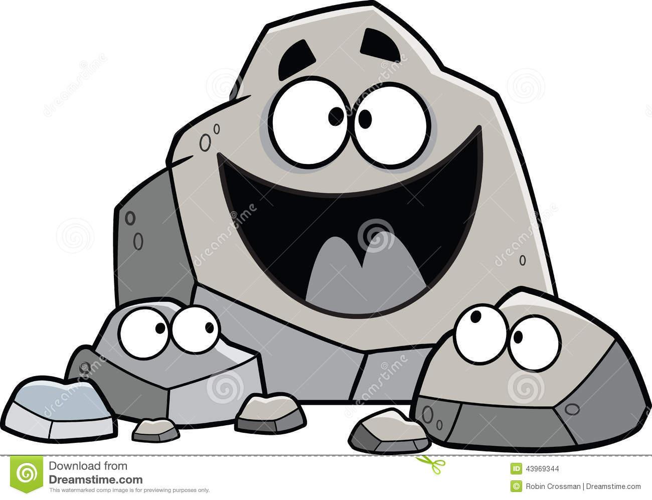 Cartoon Rock Family Illustrated Set Rocks Theme 43969344 Jpg
