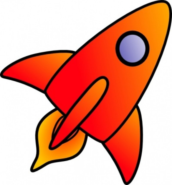 Cartoon Rocket Clip Art Vector Free Download