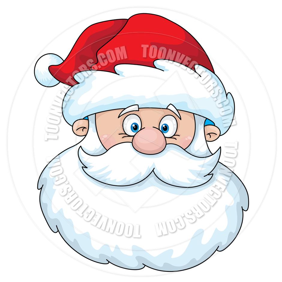 Cartoon Santa Claus Head