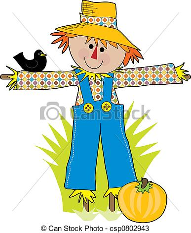 Cartoon scarecrow Stock Illustrationby clairev6/1,705; Scare Crow - A funny scare crow in a field with a crow
