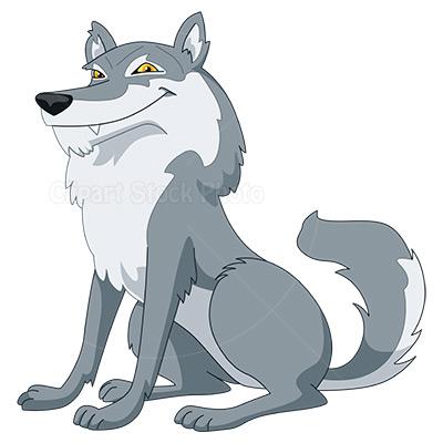 Cartoon Wolf Clipart #1