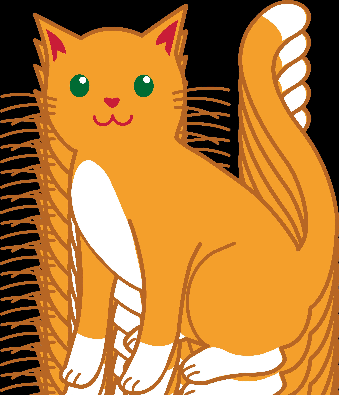 cat clipart | Orange and White Cat - Free Clip Art
